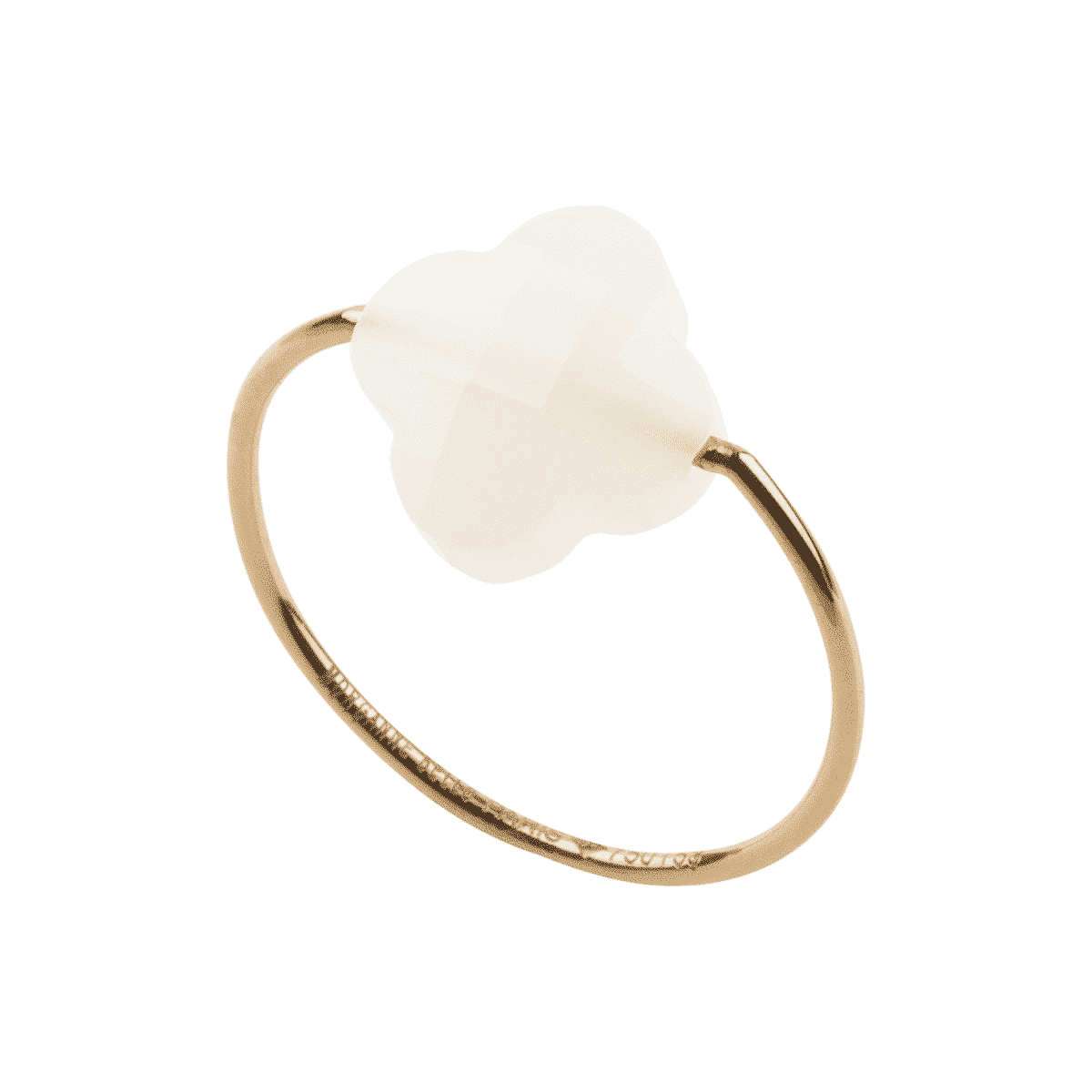 Morganne Bello - Yellow ring with white agate