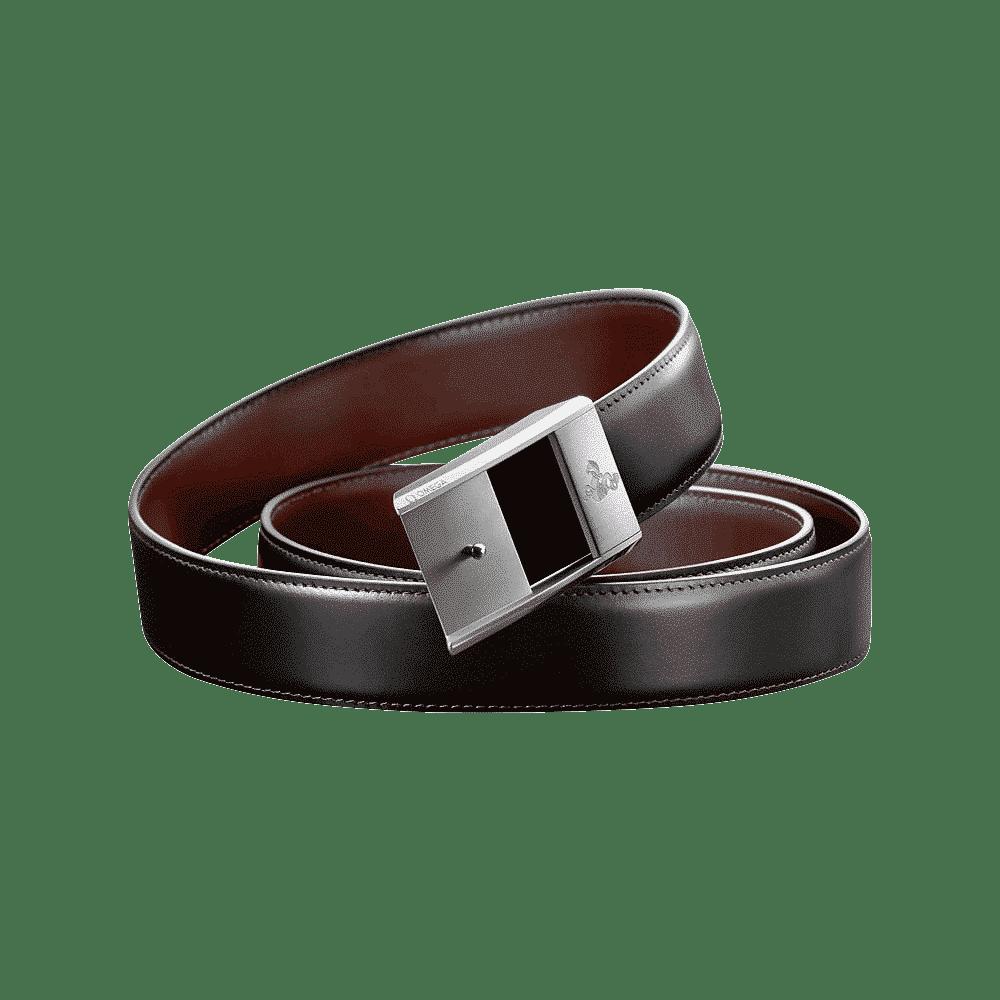 Omega - Ceinture en cuir avec boucle brossée