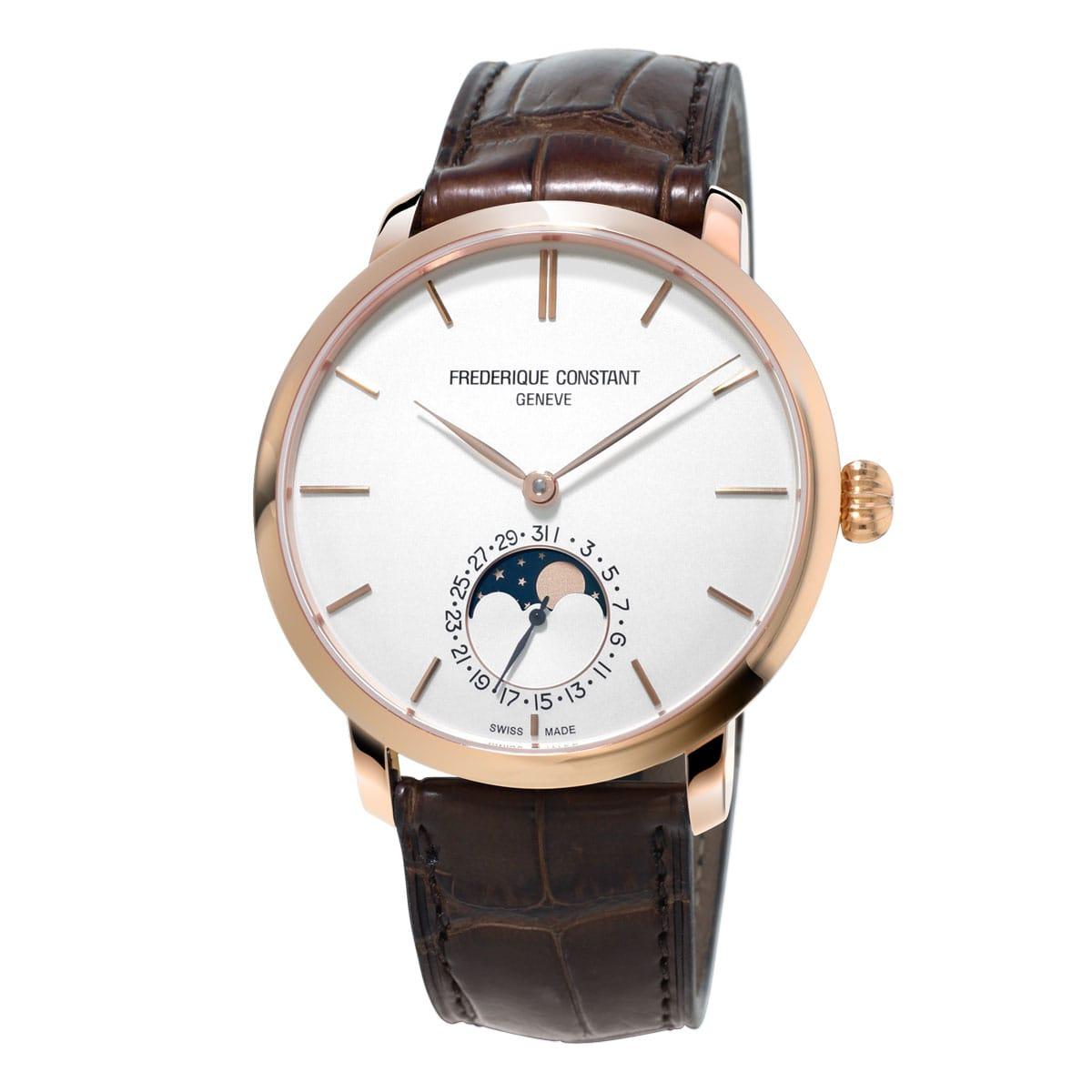Frederique-Constant-Manufacture-Slimline-Moonphase-FC-705V4S9 Lionel Meylan Horlogerie Joaillerie Vevey