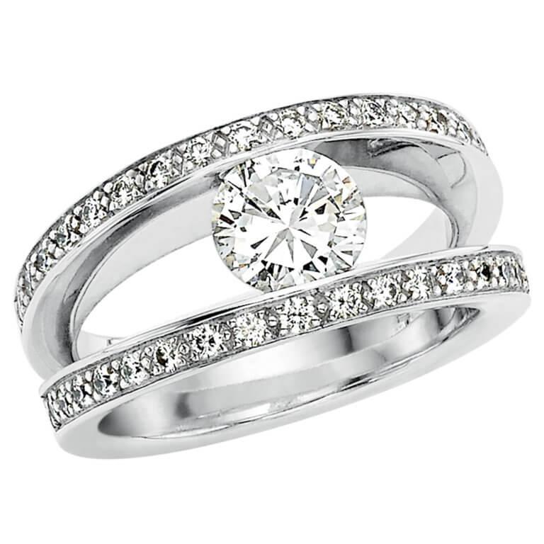 Lionel Meylan Créations - Bague sertie de diamants blancs