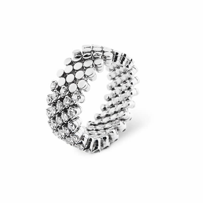 Serafino Consoli - White diamonds ring