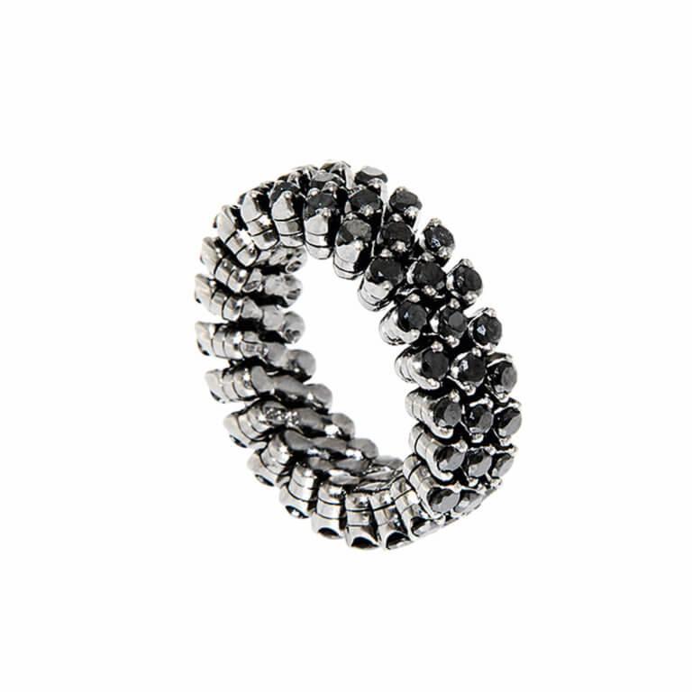 Serafino Consoli - Bague diamants noirs