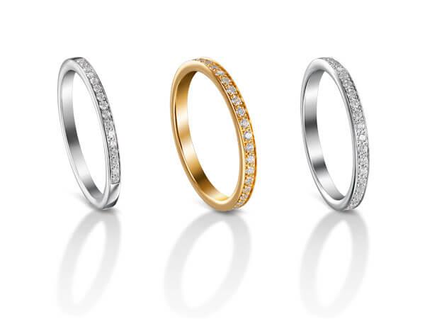 Alliances serties de diamants