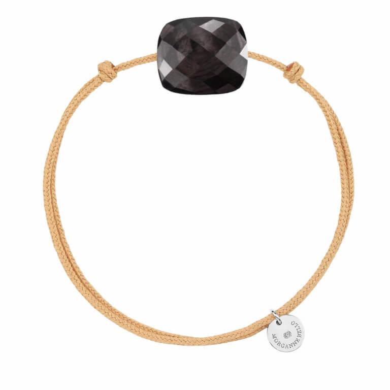 Morganne Bello - Friandise Oversize Bracelet cordon et coussin pierre de lune hipperstein