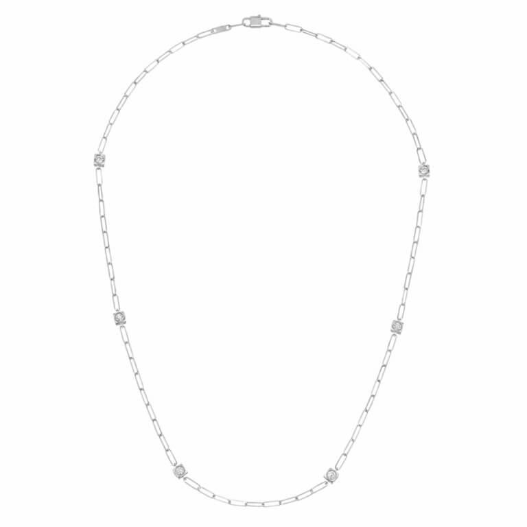 dinh van - Le Cube Diamant necklace white gold and diamonds