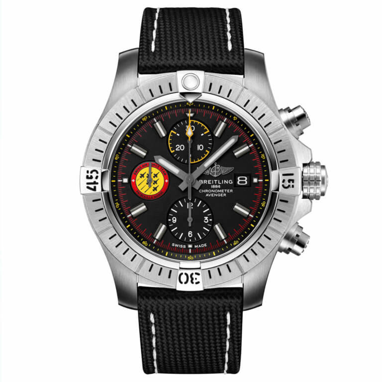 Breitling - Avenger Chronograph 45 Swiss air force team limited edition » One of 550″
