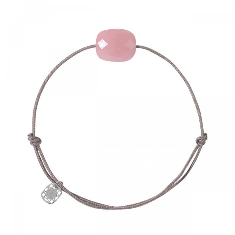 Morganne Bello - Friandise bracelet cordon avec un coussin quartz guava