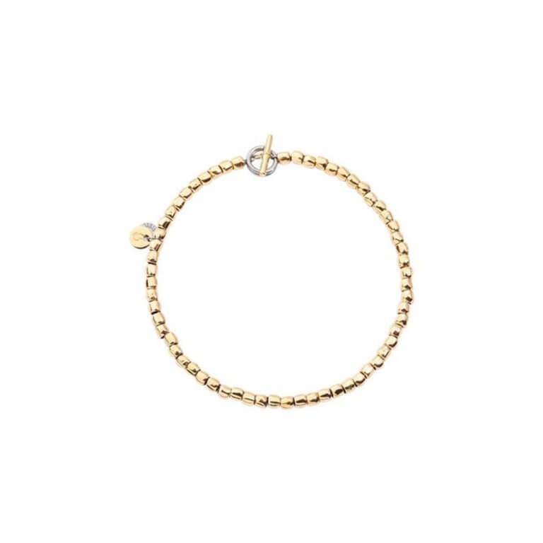 Dodo - Granelli bracelet mini grains en or jaune 750