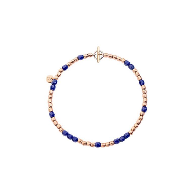 Dodo - Granelli bracelet mini en or rose 750 et céramique bleue