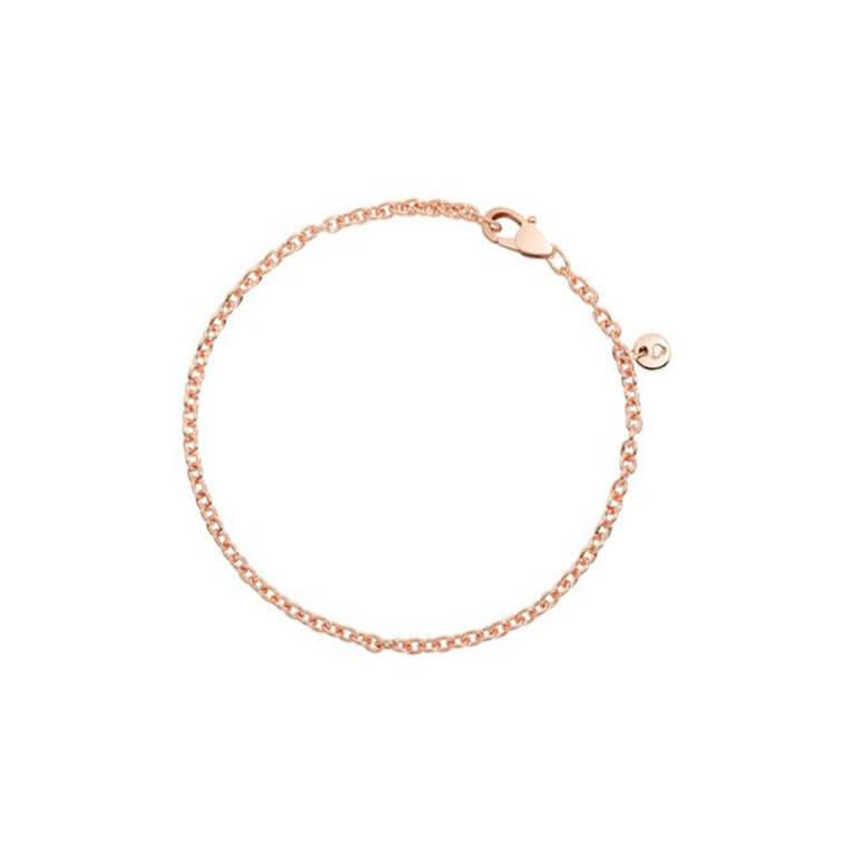 Dodo - Essentials bracelet maille forçat ronde en or rose 375
