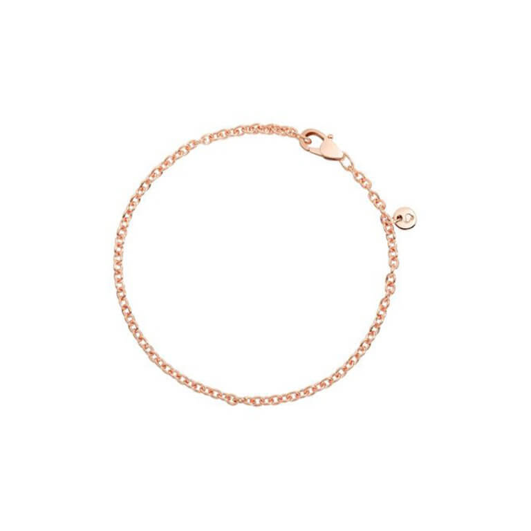 Dodo - Essentials round convict link bracelet in 375 rose gold