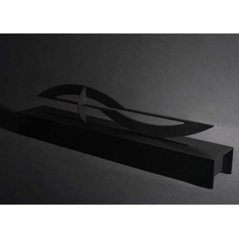 Around Five - Sculpture of Time brushed black anodized aluminum