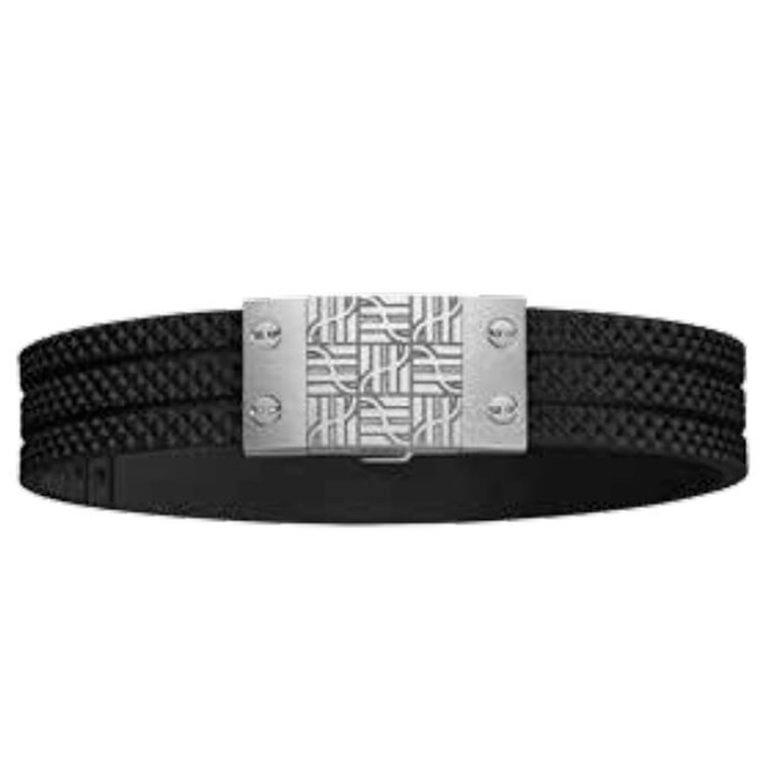 Hublot - Bracelet caoutchouc et fermoir en acier et plaqué noir