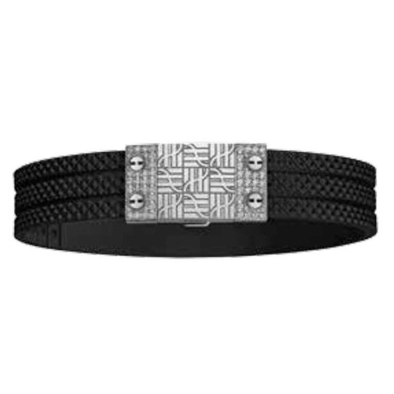 Hublot - Bracelet caoutchouc avec fermoir en acier et 56 diamands