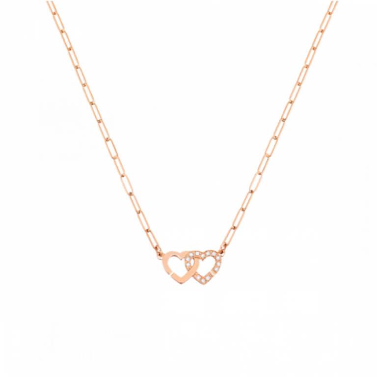 dinh van - Double cœurs R9 collier chaine maille S
