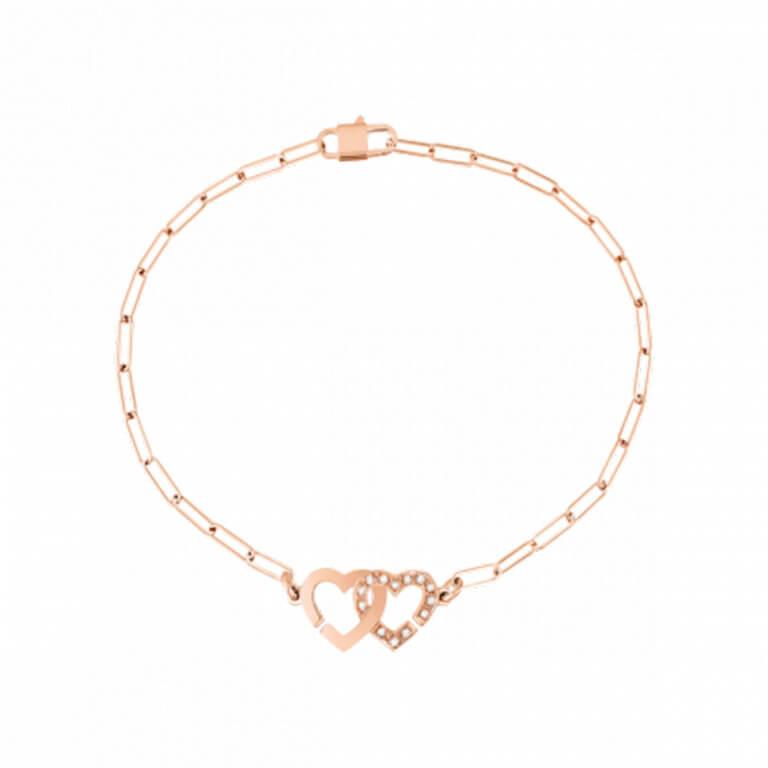 dinh van - Double coeurs bracelet sur chaine