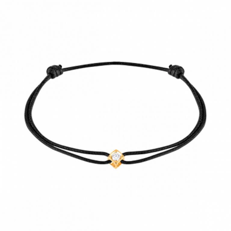 dinh van - Le cube diamant bracelet cordon