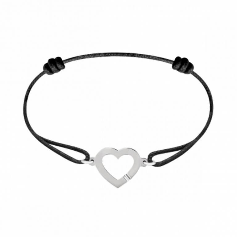 dinh van - Coeur bracelet sur cordon
