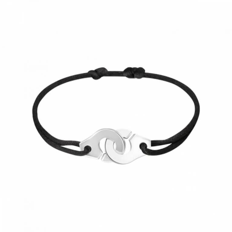 dinh van - Menottes argent R12 bracelet sur cordon