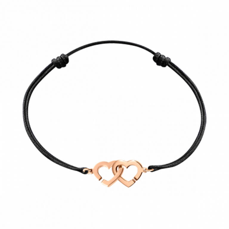 dinh van - Double coeurs R9 bracelet sur cordon