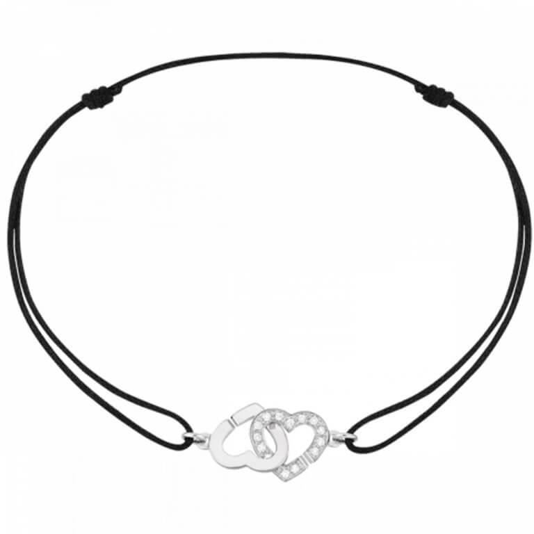 dinh van - Double cœurs R9 Bracelet sur cordon