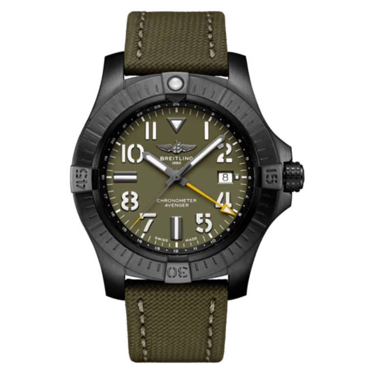 Breitling - Avenger automatique GMT 45 Night Mission Edition limitée One of 2000