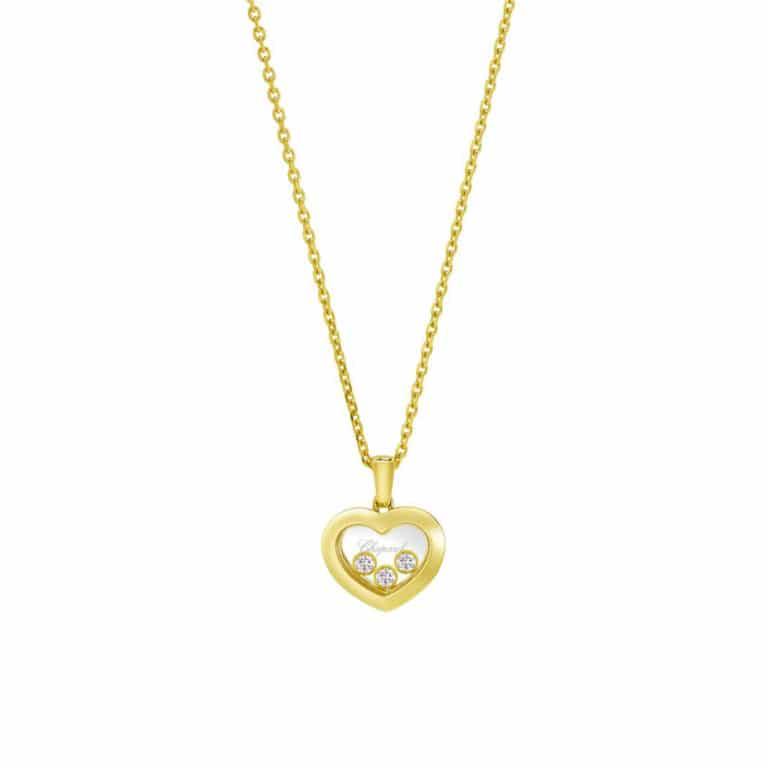 Chopard - Happy Diamonds collier en or jaune avec pendentif coeur