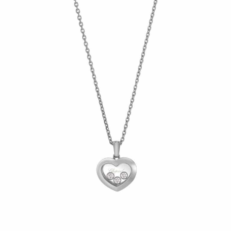 Chopard - Happy Diamonds collier en or blanc 750 avec pendentif coeur