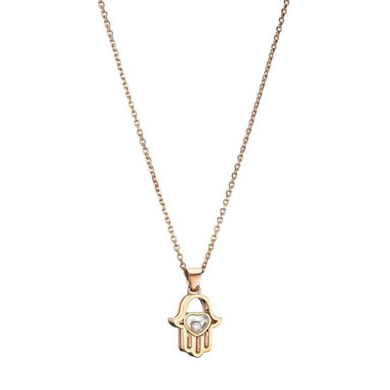 Chopard - Happy Diamonds collier en or rose avec pendentif main de Fatma