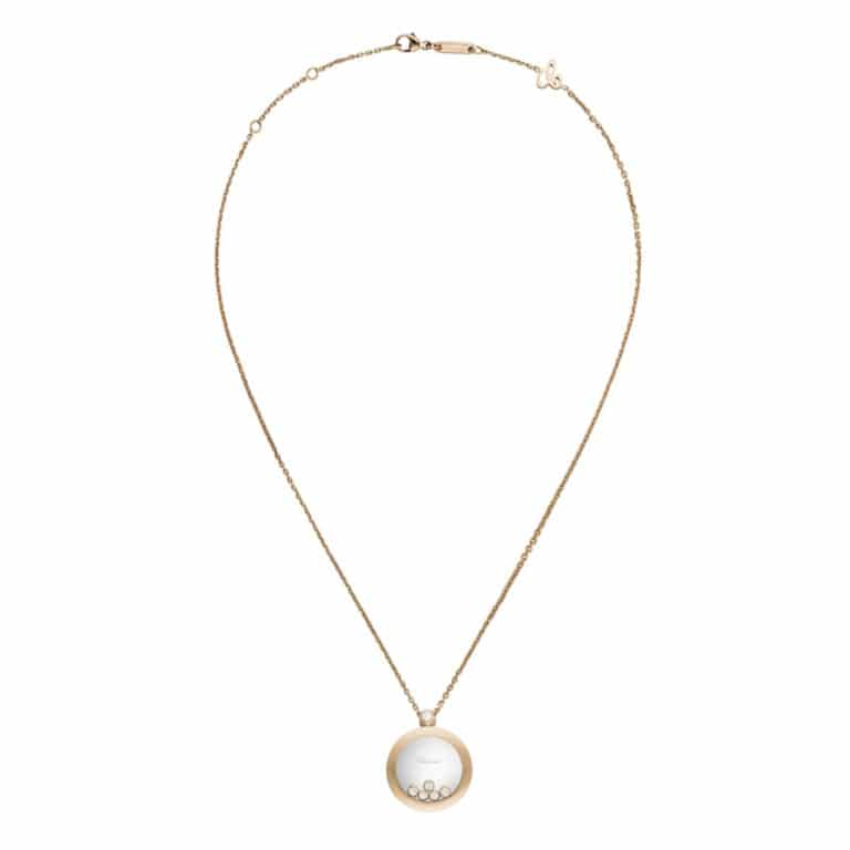 Chopard - Happy Diamonds collier en or rose avec pendentif de forme ronde