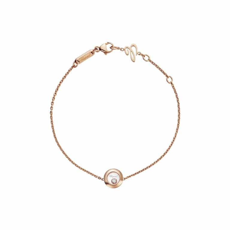 Chopard - Happy Diamonds bracelet en or rose avec motif rond