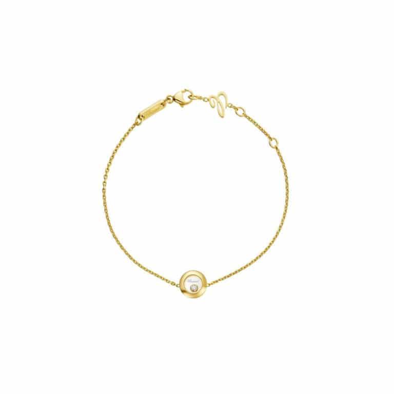 Chopard - Happy Diamonds yellow gold bracelet with round pendant