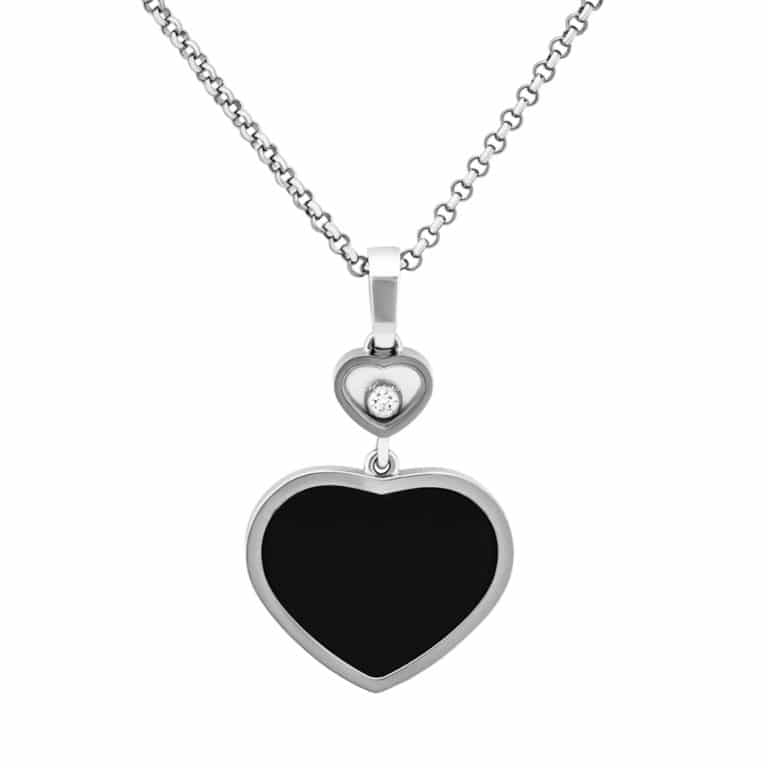 Chopard - Happy Hearts white gold necklace with heart pendant