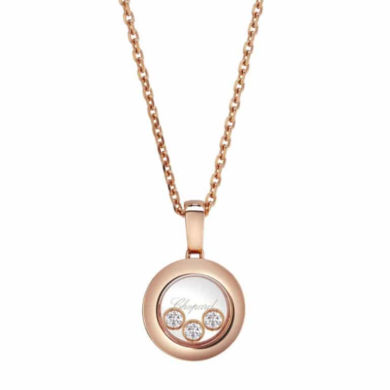 Chopard - Happy Diamonds collier en or rose avec pendentif en forme de rond