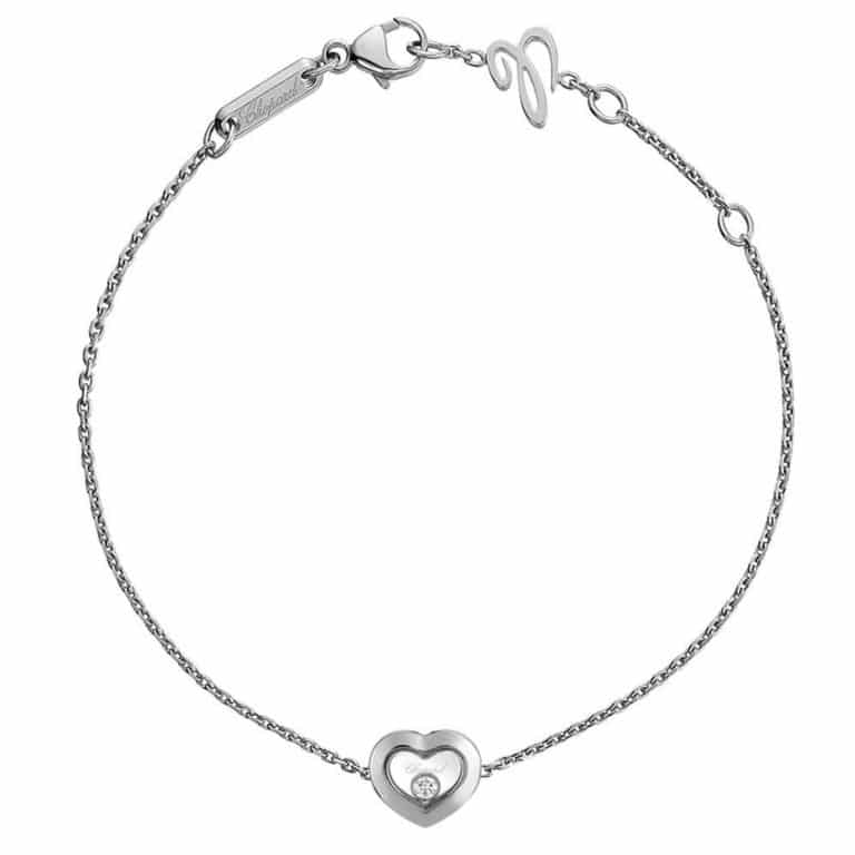 Chopard - Happy diamonds bracelet en or blanc avec motif coeur