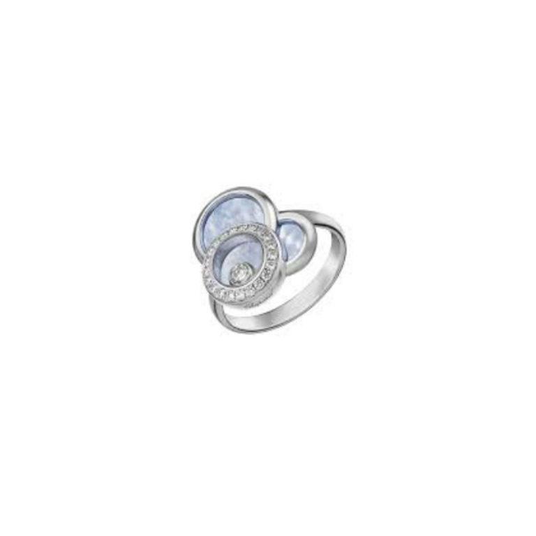 Chopard - Happy Diamonds bague en or blanc avec diamants et nacre