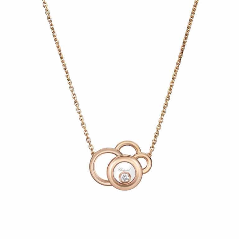 Chopard - Happy Diamonds collier en or rose