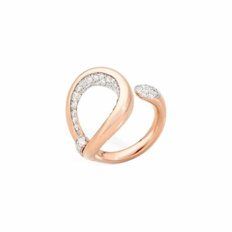 Pomellato - Fantina bague en or rose sertie de 61 diamants