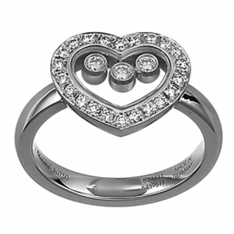 Chopard - Happy Diamonds en or blanc sertie diamants et trois diamants mobiles