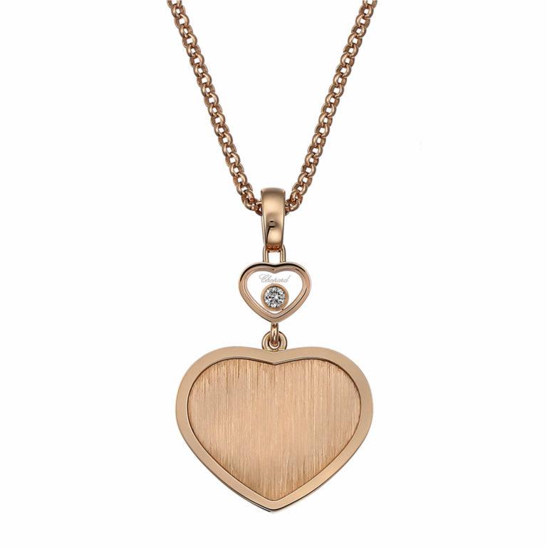 Chopard - Happy Hearts Edition limitée James Bond 007 collier en or rose motif cœur avec un diamant mobile