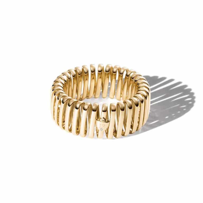 IsabelleFa - L'elastique bracelet en or rose 750, 38 tours, serti d'un diamant