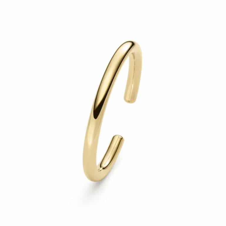 IsabelleFa - Flix Flex bracelet jonc ovale en or jaune 9mm serti d'un diamant
