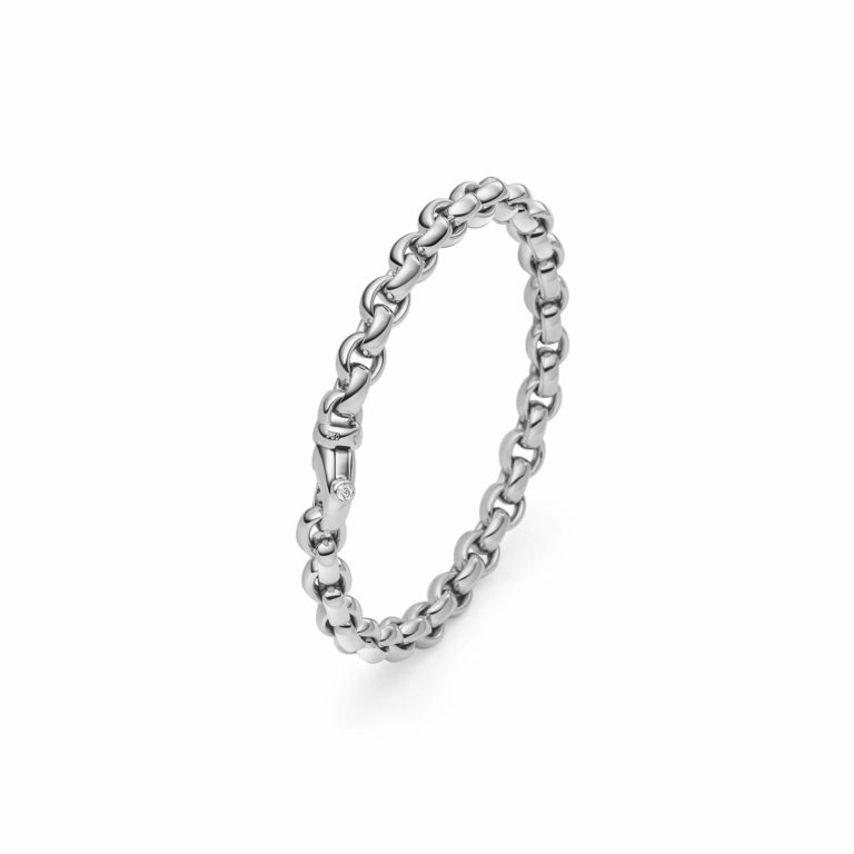 IsabelleFa - ChaCha 8, bracelet en or blanc 750 serti d'un diamant