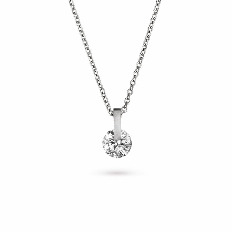 Schaffrath - Liberté Lumina collier en or blanc et palladium serti d'un diamant