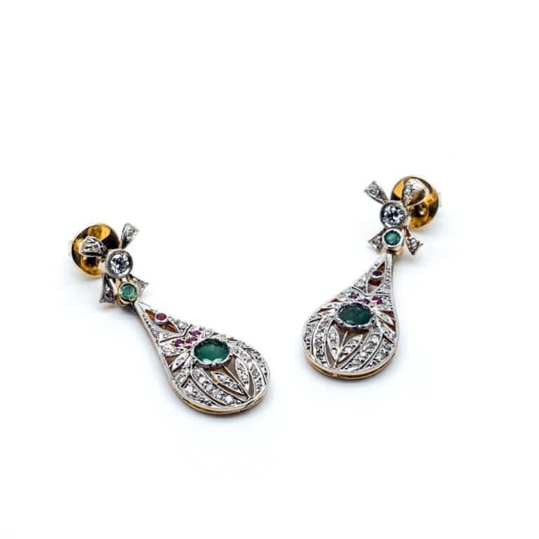 Bijoux Vintage - Boucles d'oreille Vintage